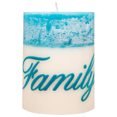 Family Ocean Flower Pillar Candle